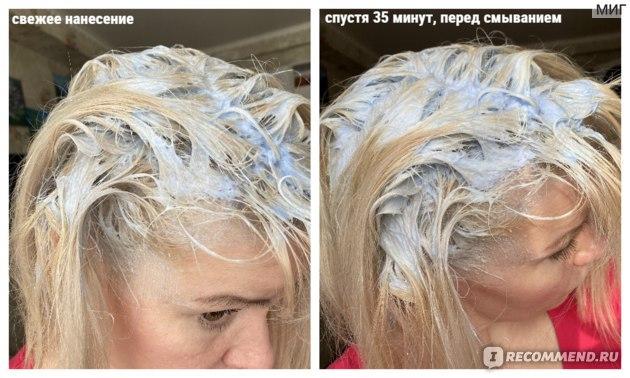 Нанесение краски на корни волос