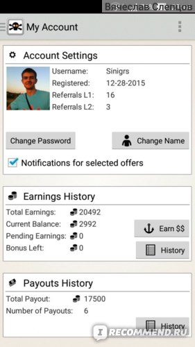 Моя история заработков (статистика)