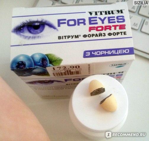 Витаминно-минеральный комплекс Vitrum For Eyes forte  фото