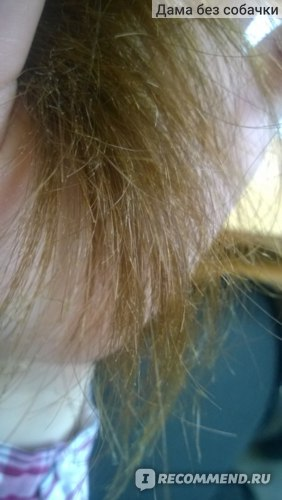 После мыться волос