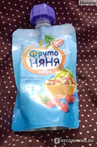 Пюре Фруто Няня витаминный салатик фото