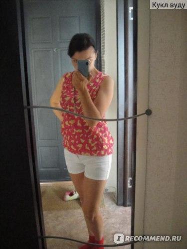 Блузка AliExpress New Fashion plus size women clothing Pullover Loose Short Sleeve Chiffon Shirt/ Brand Blouse Free Shipping Abm0003333  фото