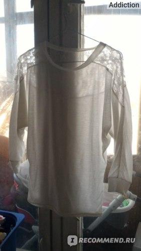 Блузка AliExpress Women body Lace Crochet Bats Shirts camisas Casual Blouse Loose tunic Pluz Size Pullover Mujer O-neck Tunic femininas tops 8021 фото