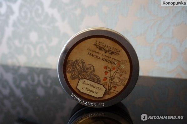 Маска-пилинг L`Cosmetics Маска-пиллинг «Земляника и карите» 150 мл  фото