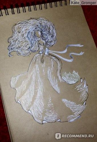 Рисунок белой ручкой