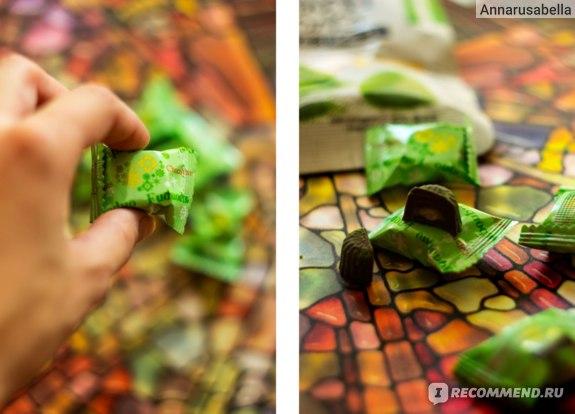 Конфеты Truffle Choco Зеленый чай