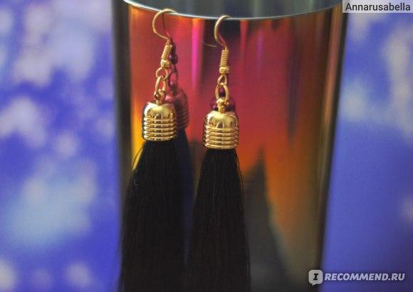 Серьги Aliexpress Momoko black vintage tassel earrings long earring фото