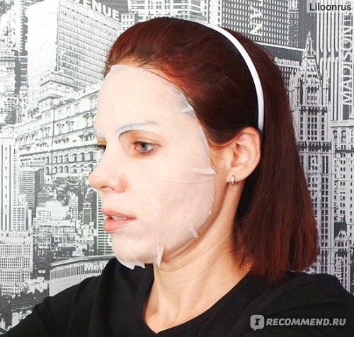 Тканевая маска для лица Funny Organix ЯПОНСКИЙ РИС МЫШИНЫЕ LOVE STORY С РИСОВОЙ ПУДРОЙ фото