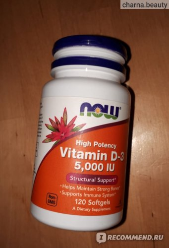 Витамины Now Foods Vitamin D-3 5,000 IU фото