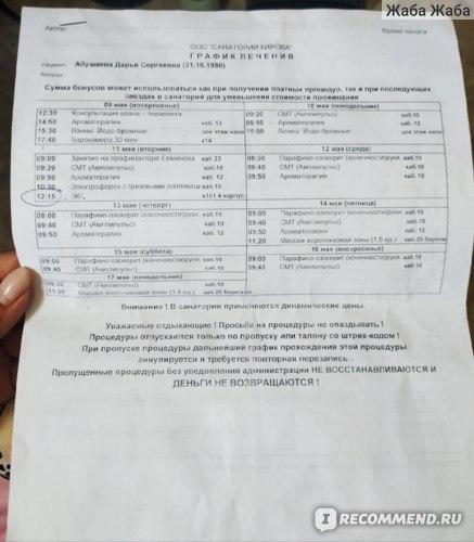 лечение в санатории им. Кирова
