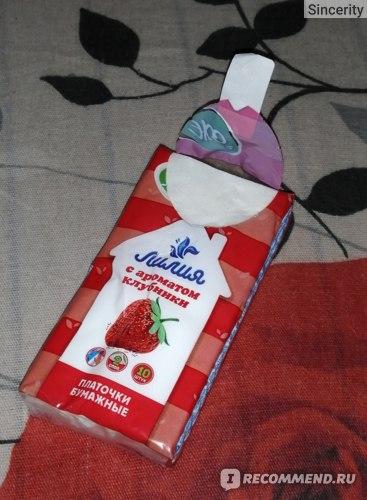 Бумажные носовые платочки ИП Китайкин А.Б. Лилия фото