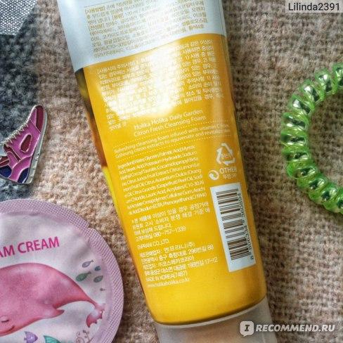 Пенка для умывания Holika Holika Daily Garden Cleansing Foam CITRON фото