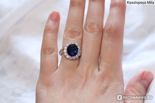 Кольцо Aliexpress Luxury British Kate Princess Diana William Engagement Ring with Real Platinum Plate Crystal Wedding Rings for Women фото