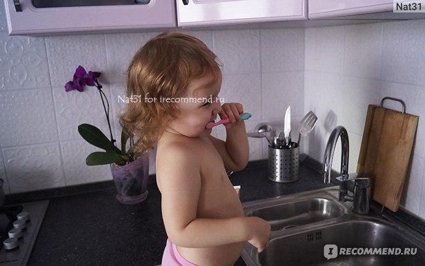 Зубная паста SPLAT Биоактивная для детей от 0 до 3 лет яблоко-банан фото