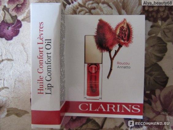 Масло для губ Clarins Éclat minute Huile Instant Light Lip Comfort oil фото