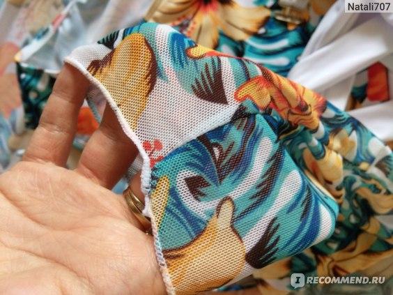 Купальник AliExpress 2021-Bandage-Underwired-Bikini-Sets-For-Women-s-3-Pieces-High-Waist-Swimsuit-With-Long-Sleeve фото