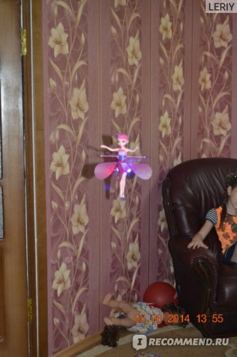 Летающая фея Aliexpress 2014 Battery Operated Flying toy Flying Fairy electronic toys sunbeam flying flower faily flitter fairies Russian version фото