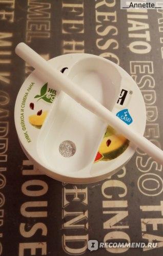 Биойогурт Слобода с клетчаткой, с фейхоа, киви и семенами льна 2,0% фото