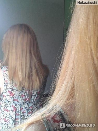 Два осветления на высоком % после хны - волосы как пакля