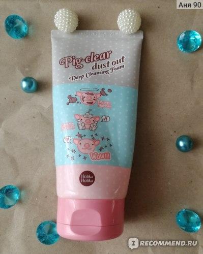 Пенка для умывания Holika Holika Pig Clear Dust Out Deep Cleansing Foam фото