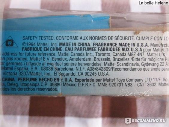 Коробка куклы, купленной в 1995 году.