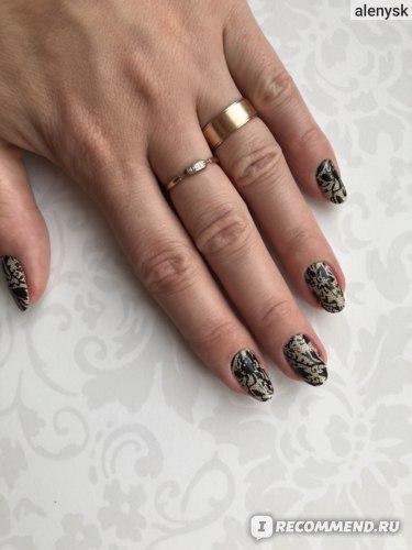 Лаковые полоски Sally Hansen  Salon effects. Ногти с красивыми узорами.