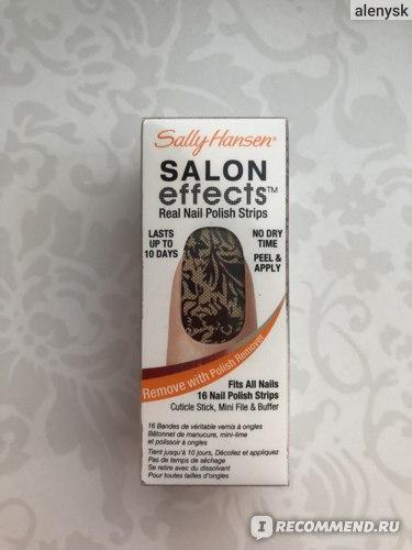 Лаковые полоски Sally Hansen  Salon effects