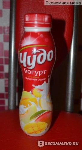 Йогурт питьевой Чудо персик-манго-дыня фото