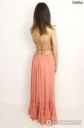 Платье летнее AliExpress ORMELL New Fashion Ladies' Elegant Maxi Dress Vintage Long Beach Dress Suspender Sleeveless Backless Slim Brand Design фото