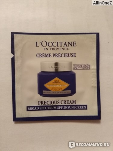 Крем для лица L`Occitane Иммортель / IMMORTELLE Precious Cream фото
