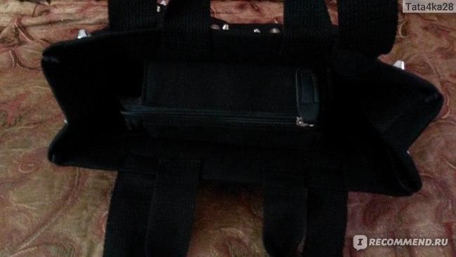 Сумка Aliexpress женская women's handbag preppy style punk rivet handbag thickening canvas bag student bag фото