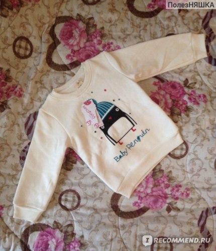 Пуловер AliExpress Newborn Kid-Baby Girl Penguin Print Long Sleeve Sweater Pullover Cotton Sweater фото
