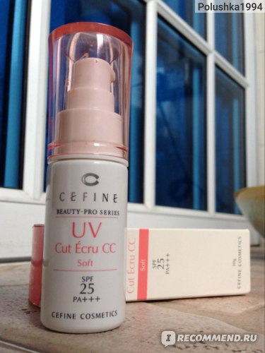 Солнцезащитная эмульсия Cefine Beauty Pro UV Cut Ecru CC SPF25 PA+++ фото