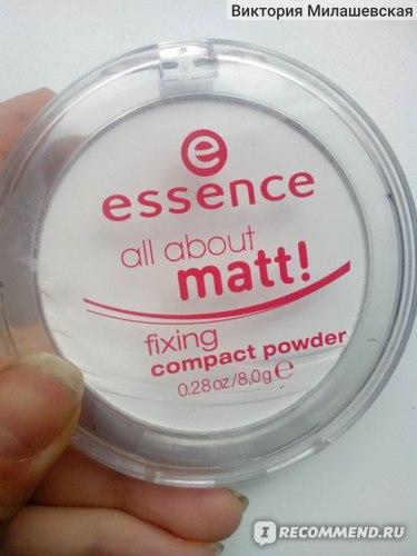 Пудра компактная Essence All About Matt! фото