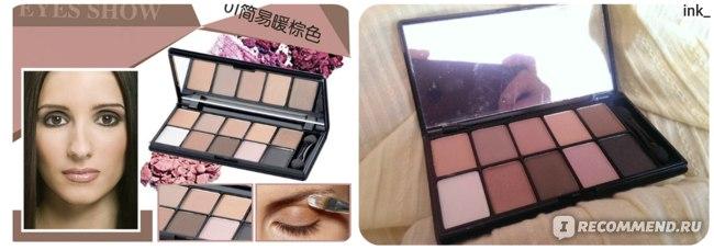 Тени для век Aliexpress Professional Makeup Brand 10 Warm Color Matte Eyeshadow Palette Neutral Nude Eye Shadow Cosmetic Palette maquiagem With Brush фото