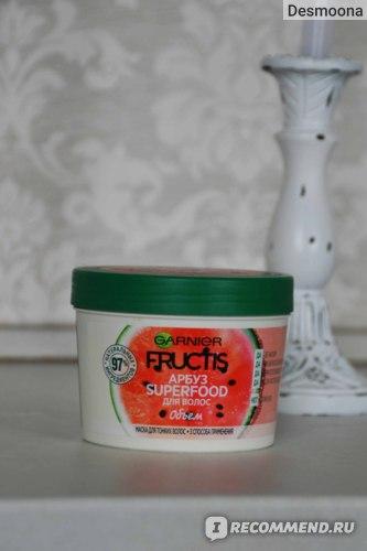 Маска для волос Garnier Fructis Сочный арбуз  Superfood Объем фото