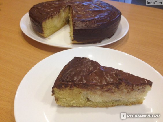Бисквитно-банановый пирог