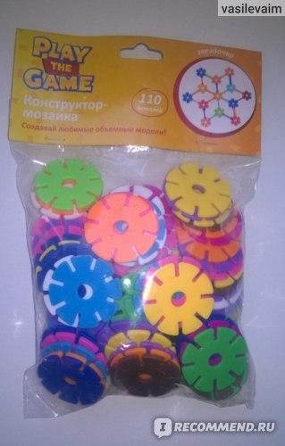 PLAY THE GAME Конструктор-мозаика 110 деталей фото