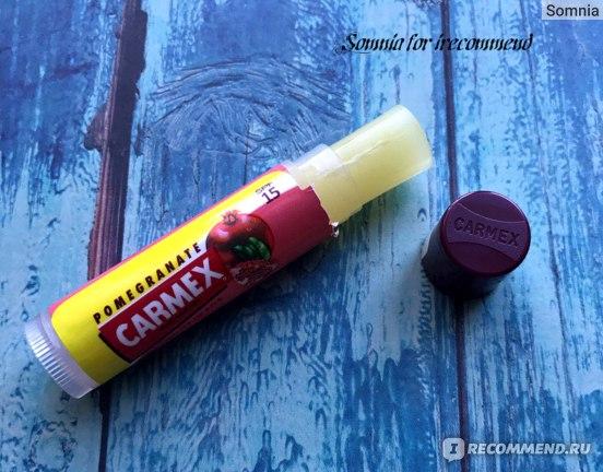 Бальзам для губ Carmex Ultra Moisturising Lip Balm SPF 15 - Pomegranate  фото
