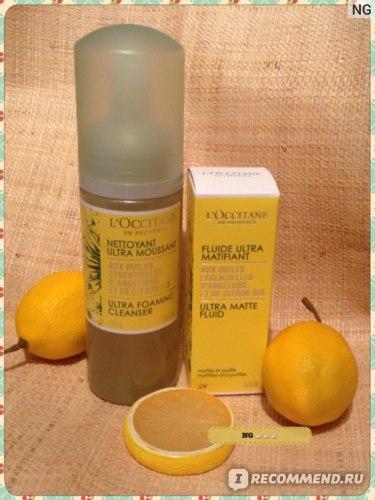 Пенка для умывания L`Occitane Ангелика-лимон фото