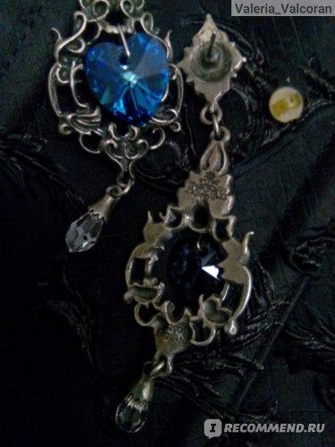 Серьги Alchemy Gothic Empress Eugenie Blue Crystal Earrings E264 фото