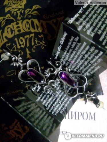 Серьги Alchemy Gothic Midnight Ear Chain E232  фото