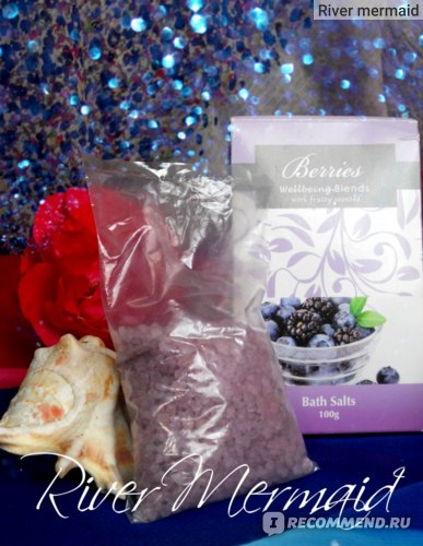 Соль для ванн Berries Wellbeing Blends with fruity scented фото