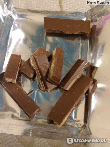 Молочный шоколад Nestle KITKAT с хрустящей вафлей фото