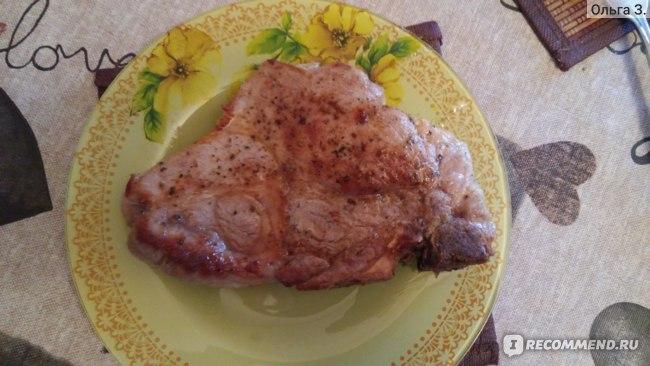 Стейк Мираторг Мраморный Tender Pork из шейки охлажденный 280г  фото