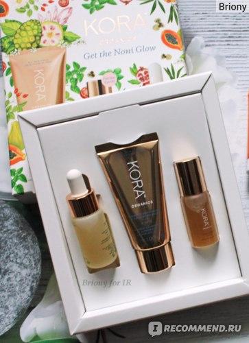 Набор косметики Kora Organics: Масло для кожи вокруг глаз KORA Organics Noni Radiant Eye Oil, Turmeric Mask, Noni oil