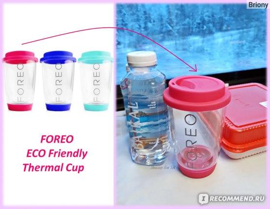 FOREO ECO Friendly Thermal Cup. Правое фото в коллаже принадлежит автору отзыва