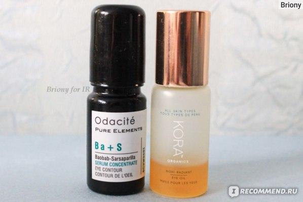 Масла для кожи вокруг глаз KORA Organics Noni Radiant Eye Oil и Odacite