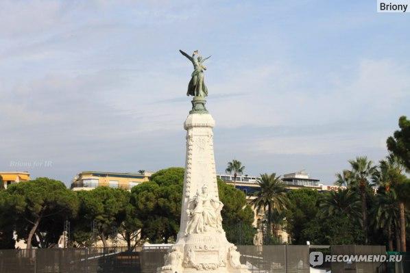 Памятник в честь присоединения Ниццы к Франции