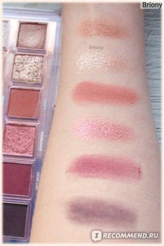 Huda Beauty Mercury Retrograde Palette  - отзыв - ряд 3 дневной свет